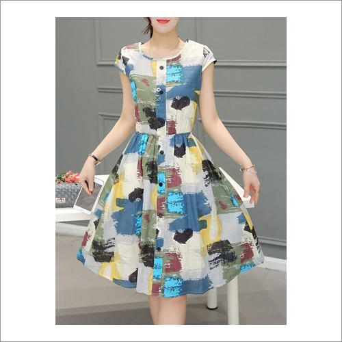 Ladies Poly Cotton Rayon Western Dress