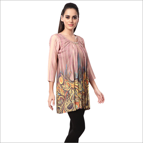 Ladies Round Neck Western Kurtis