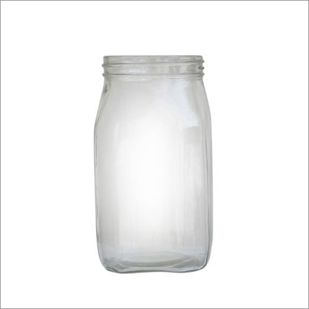Transparent Glass Jar