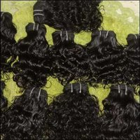 Indian natural curly weft hair
