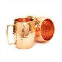 Copper Hammered Mule Mug