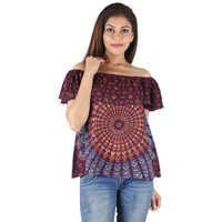 Rayon Mandala Block Printed Top