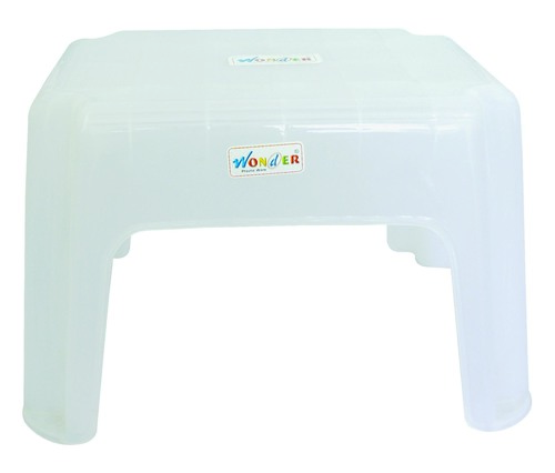 PLASTIC TRANSPARENT UNBREAKABLE STOOL