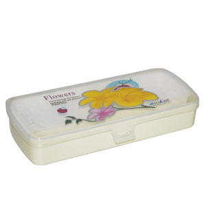 Plastic Printed Pencil Box Lovely