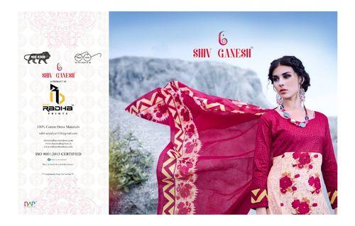 Soni Kudi Work & Cotton Printed Dress Material