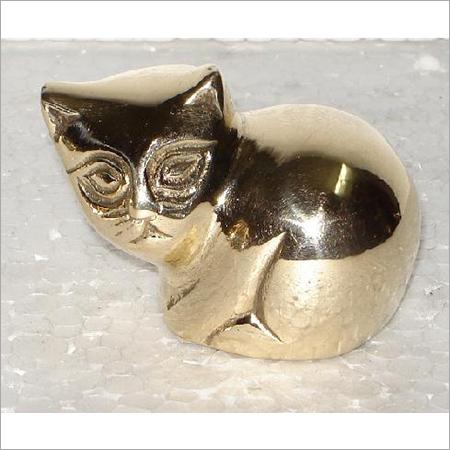 Decorative Brass Cat Figurine