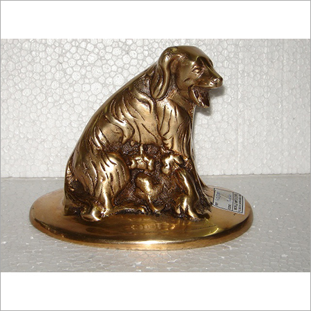 Decorative Brass Dog Figurine