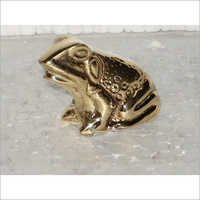 Decorative Brass Frog Figurine