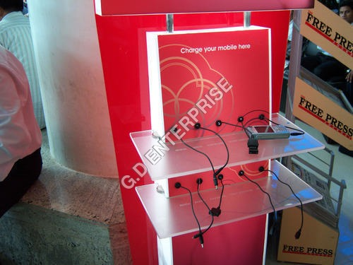 Acrylic Vodafone Mobile Charging Station