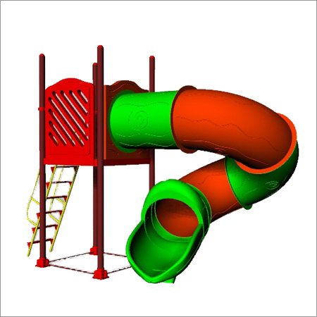 5 Ft Roto Spiral Slide With Deck