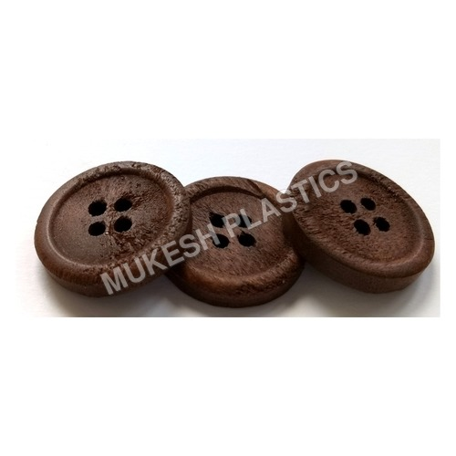 Brown Wooden Button