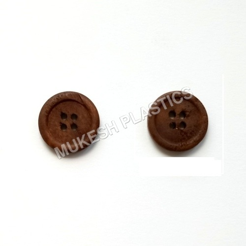 Brown Wooden Button For Coat