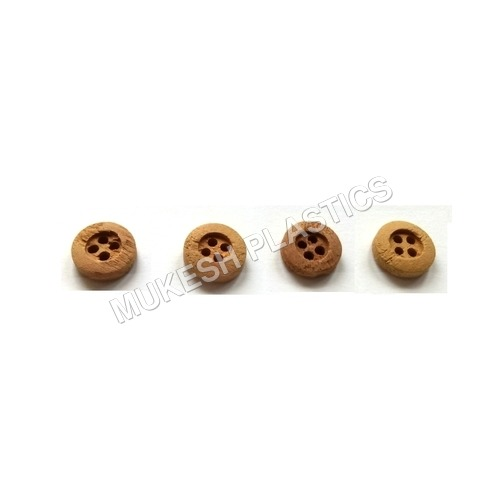 Small 4 Hole Wooden Button