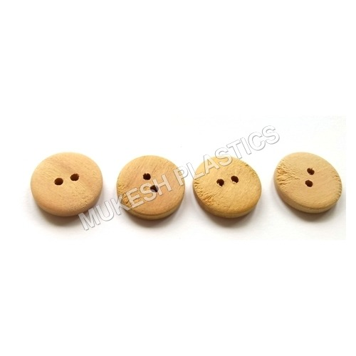 2 Hole Blank Wood Button