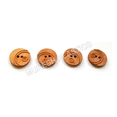 Fancy Wooden Button for Kurta