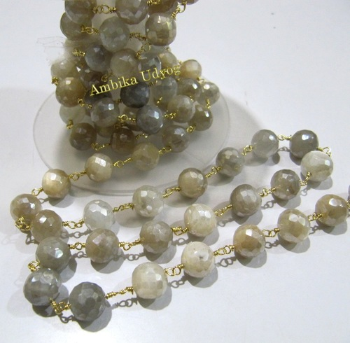 Multi Moonstone Beaded Chain