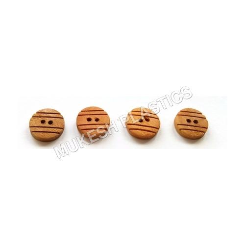 Strip Convex Wooden Button