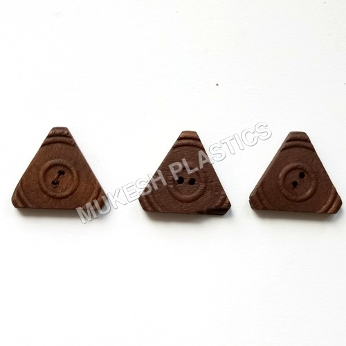 Triangle Wooden Button