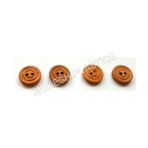 Wooden Round Convex Button