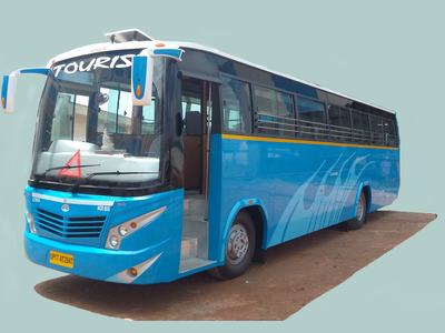 Blue Luxury bus