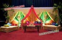 Arabian Theme Wedding Mehandi Stage Sofa
