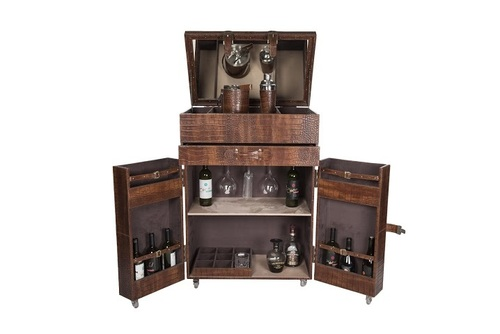Antique Bar Cabinet - Leather Bar And Cabinets Manufacturer,Leather Bar And Cabinets
