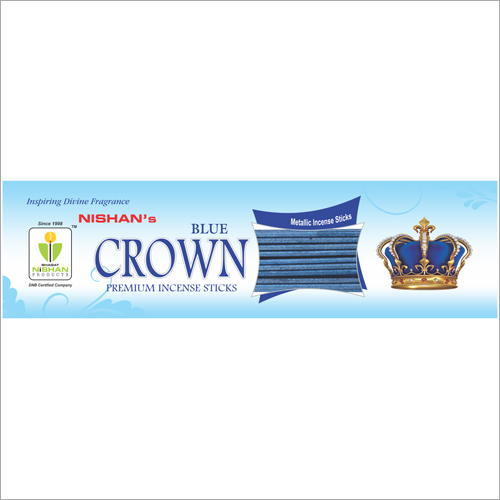 Blue Crown Premium Incense Sticks Pouch Pack