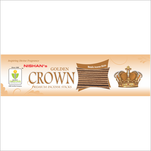 Golden Crown Premium Incense Sticks Pouch Pack