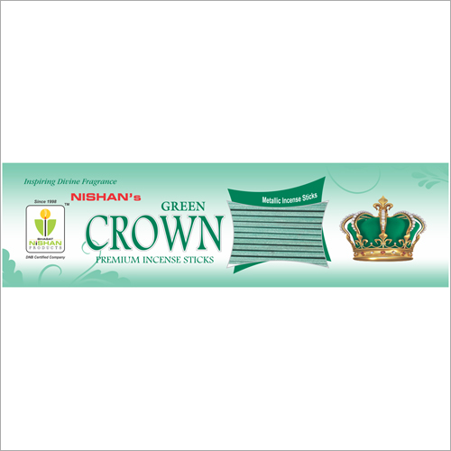 Green Crown Premium Incense Sticks Pouch Pack