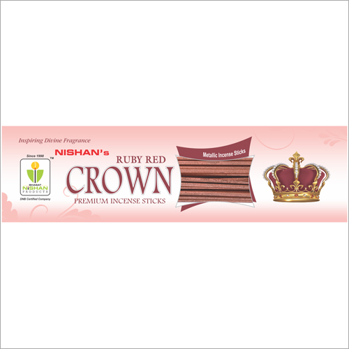 Ruby Red Crown Premium Incense Sticks Pouch Pack