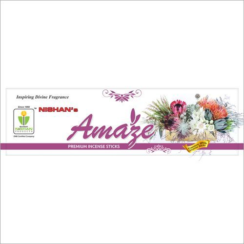 Amaze Premium Incense Sticks Zipper Pouch Pack