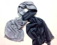 ombrey dye black grey color scarves