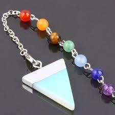 Reiki Dowsing Triangle Pendulum + 7 Chakra Stone