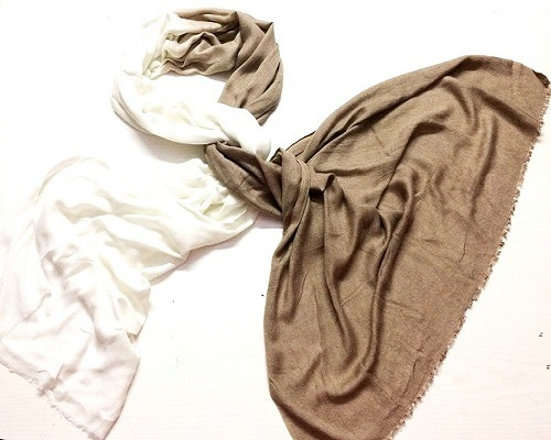 Brown White Ombrey Scarf
