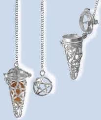 Pentacle Cage & Chakra Stone Set Pendulum