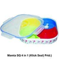 Plastic Masala Box Mamta Square 4 IN 1