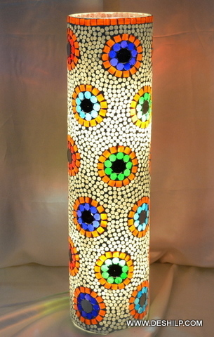 Light Lamp Flower stained glass table lamp Desk Table Light Lamp Glass Touch