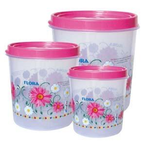 Plastic Round Container Set CONTI 510