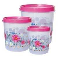 Wonder Plastic Round Container Conti 510 (Set of 5,7,10)