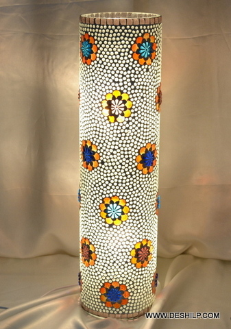 Table Light Lamp Flower stained