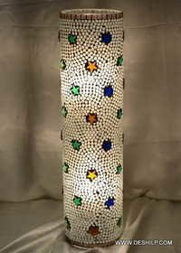 Table Light Lamp Flower stained glass table lamp