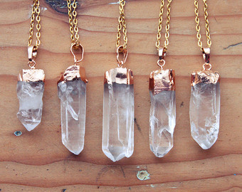 Crystal Natural Points Pendants