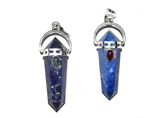 Lapis Lazuli Double Point Pendants