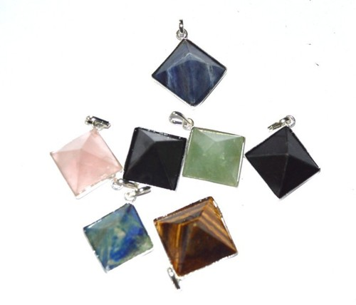 Mix Gemstone Pyramids Pendants
