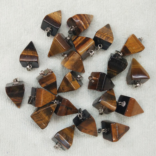 Tiger Eye Pyramid Pendants