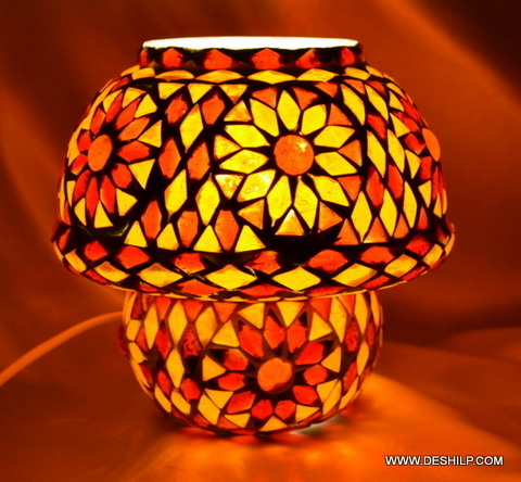 Home Decorative Table Glass Lamps Hand made shade Design Home Decor Gift Table Lamp