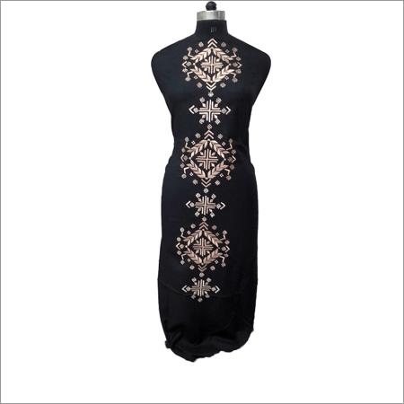 Ladies Black Kurta With Beige Embroidery