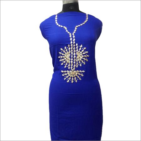 Ladies Royal Blue Kurta With Gotta Pati Work