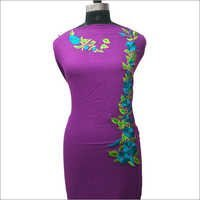 Ladies Purple Kurta With Stylish Embroidery Pattern