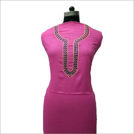 Ladies Pink Kurta With Delicate Neck